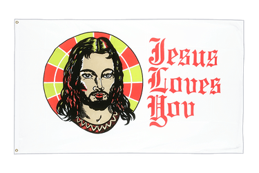 Jesus Loves You Flagge 90 x 150 cm
