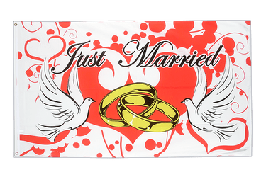 Just Married Flagge 90 x 150 cm