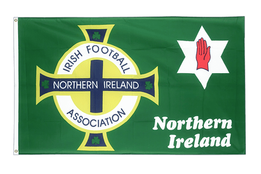 Nordirland Football Association Grün - Flagge 90 x 150 cm