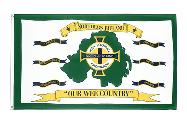 Northern Ireland Football white 3x5 ft Flag