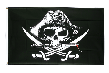 Pirate with bloody sabre 3x5 ft Flag