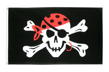 Pirate One eyed Jack 3x5 ft Flag