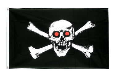 Pirate with red eyes 3x5 ft Flag