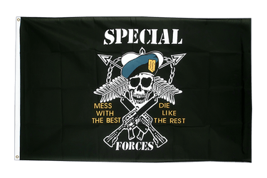 Drapeau Pirate Specialforces 90 x 150 cm