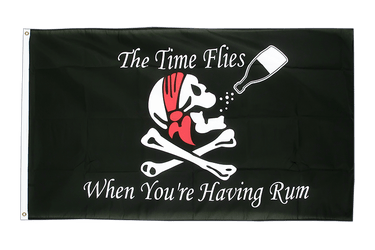 Pirat The Time Flies When You are Having Rum - Flagge 90 x 150 cm