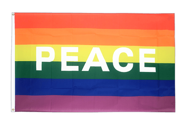 Rainbow with PEACE 3x5 ft Flag