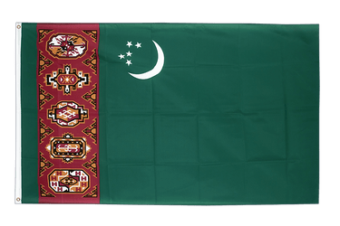 Turkmenistan 3x5 ft Flag