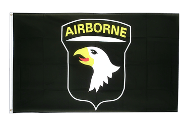 USA 101st Airborne, black 3x5 ft Flag