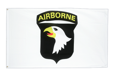 USA 101st Airborne white 3x5 ft Flag