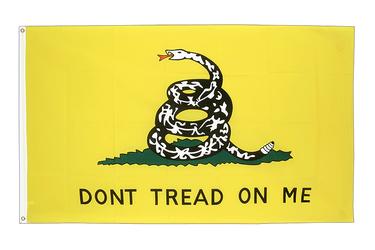 Gadsden Don't tread on me - Flagge 90 x 150 cm