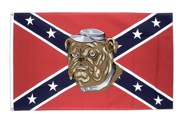 USA Southern United States with Bulldog 3x5 ft Flag