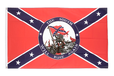 USA Southern United States South will rise again 3x5 ft Flag