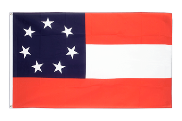 Confédéré USA Sudiste Stars and Bars 1861 Drapeau 90 x 150 cm