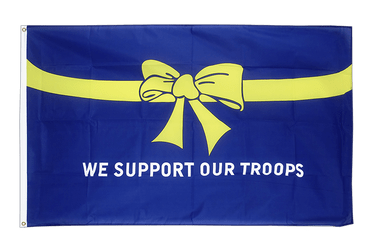 Drapeau USA Etats-Unis We support our troops 90 x 150 cm