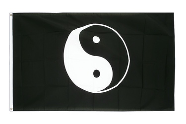 Ying and Yang black 3x5 ft Flag