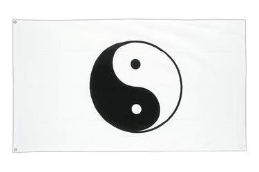 Ying and Yang, white - 3x5 ft Flag