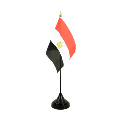 Mini drapeau de table Egypte - 10 x 15 cm