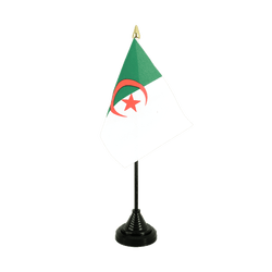 Mini drapeau de table algerien - 10 x 15 cm