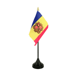 Andorra - Table Flag 4x6""
