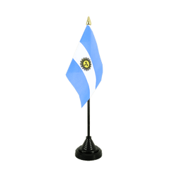 Mini drapeau de table Argentine - 10 x 15 cm