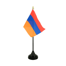 Armenia Table Flag 4x6""