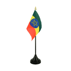 Ethiopia with star - Table Flag 4x6""