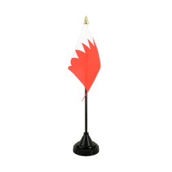 Bahrain Table Flag 4x6""