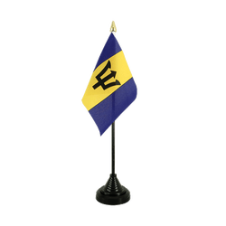 Barbados Table Flag 4x6""