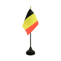 Belgium Table Flag 4x6""