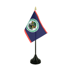 Belize Table Flag 4x6""