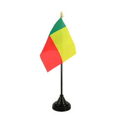 Mini drapeau de table Bénin - 10 x 15 cm