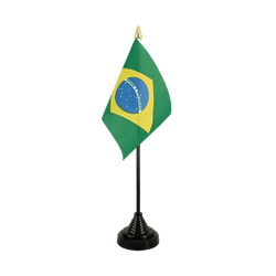 Brazil Table Flag 4x6""