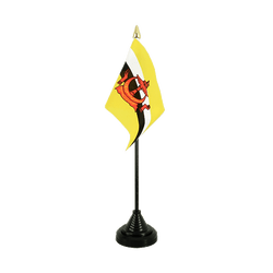 Brunei Mini drapeau de table 10 x 15 cm