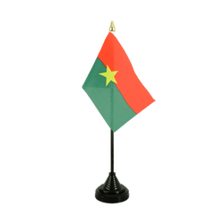 Mini drapeau de table Burkina Faso - 10 x 15 cm