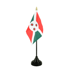 Burundi Table Flag 4x6""