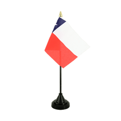 Mini drapeau de table Chili - 10 x 15 cm