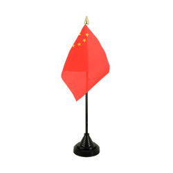 China - Table Flag 4x6""
