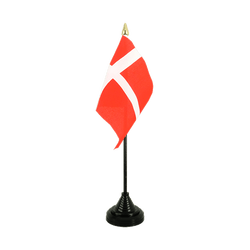 Denmark Table Flag 4x6""