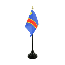 Democratic Republic of the Congo Table Flag 4x6""