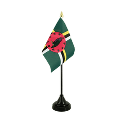 Dominica Table Flag 4x6""