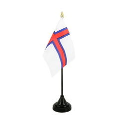 Faroe Islands - Table Flag 4x6""