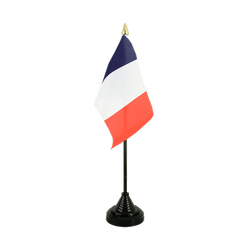 Mini drapeau de table français - 10 x 15 cm
