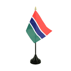 Gambia Table Flag 4x6""