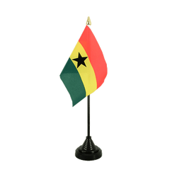Mini drapeau de table Ghana - 10 x 15 cm