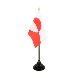 Greenland - Table Flag 4x6""