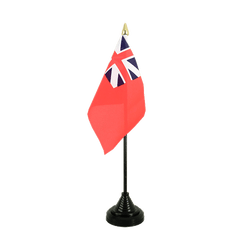 United Kingdom Red Ensign 1707-1801 Table Flag 4x6""
