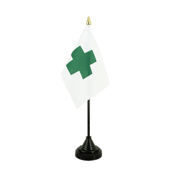 Green Cross Table Flag 4x6""