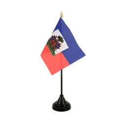 Haiti Mini drapeau de table 10 x 15 cm