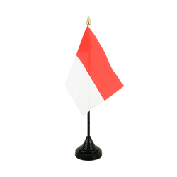 Indonesia - Table Flag 4x6""