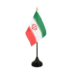 Iran Table Flag 4x6""